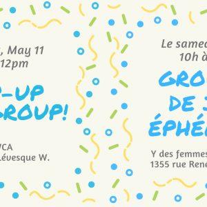 Pop-Up Playgroup! / Groupe de jeu éphémère! @ Y des femmes de Montréal